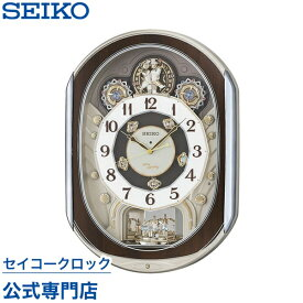 SEIKOギフト包装無料 セイコークロック SEIKO 掛け時計 壁掛け からくり時計 電波時計 RE578B セイコー掛け時計 セイコー電波時計 スイープ 静か 音がしない メロディ 音量調節 スワロフスキー あす楽対応 送料無料【ギフト】