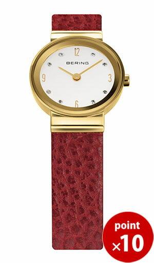 【国内正規品】【ギフト包装無料】ベーリング BERING レディース 腕時計 10122-634 X'mas Red クラシック カーフレザー スワロフスキー レザーベルト 【送料無料】【ギフト】