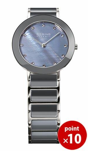【国内正規品】【ギフト包装無料】ベーリング BERING レディース 腕時計 11429-789 リンクセラミックグレー スワロフスキー セラミック・SSメタルベルト|腕時計 腕時計 腕時計 ギフト【送料無料】【ギフト】