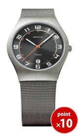 【国内正規品】【ギフト包装無料】ベーリング BERING メンズ 腕時計 11937-007 ウルトラスリムチタニウム SSメッシュベルト|腕時計 時計 腕時計 腕時計【あす楽対応】【送料無料】