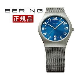 ベーリング BERING 腕時計 メンズ レディース 径37mm 11937-078 ウルトラスリムチタニウム SSメッシュベルト 送料無料|おしゃれ カジュアル ウォッチあす楽対応 国内正規品 ギフト包装無料