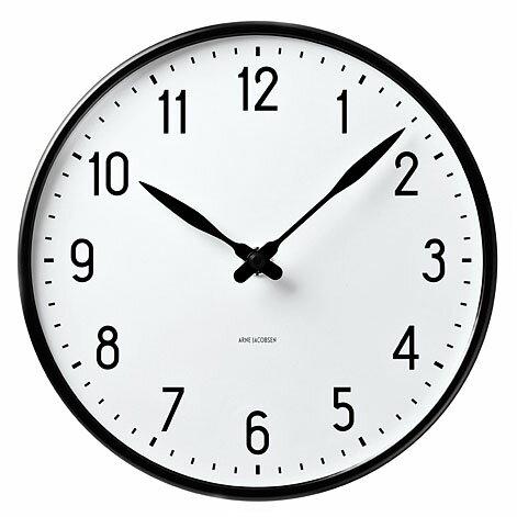 【エントリーでポイント14倍】【アルネヤコブセン 】【Station Clock】 ステーション クロック 径29センチ 43643 【正規品】 【送料無料】 【あす楽対応】