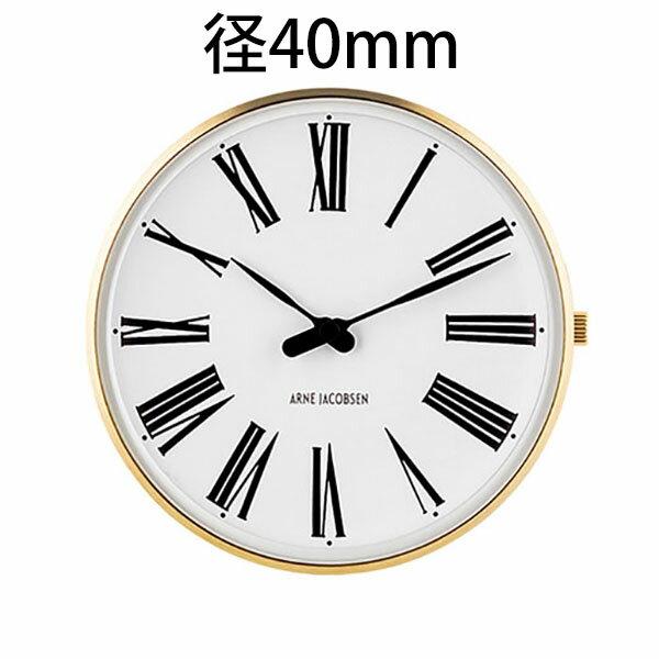 【特製クロスプレゼント】【国内正規品】【ギフト包装無料】【アルネヤコブセン】【Roman Watch】時計本体のみ ベルト別売り ローマン ウォッチ 径40mm 53308 イエローゴールドケース 正規品 送料無料 オシャレ 腕時計