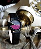 Noon Copenhagen noon copenhagen noon women's watch Jazz Age 45-022 small leather belt disc colour: black / pink / grey