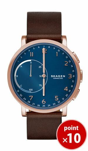 スカーゲン SKAGEN スマートウォッチ ロースゴールド メンズ  腕時計 HAGEN CONNECTED SKT1103 Men's Leather ダークブラウンレザーベルト 【あす楽対応】【正規品】【送料無料】