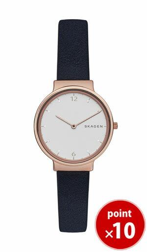 【国内正規品】【ギフト包装無料】スカーゲン SKAGEN レディース ANCHER 腕時計 SKW2608 Ladies Leather ネイビーレザーベルト 腕時計 腕時計 腕時計 ギフト【あす楽対応】【送料無料】