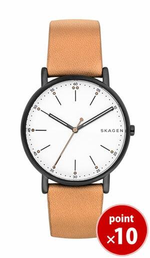 【国内正規品】【ギフト包装無料】スカーゲン SKAGEN メンズ SIGNATUR 腕時計 SKW6352 Leather Mens ライトブラウンレザーベルト【あす楽対応】【送料無料】 腕時計 腕時計