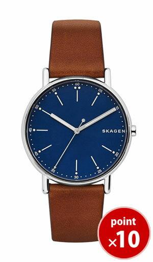 【国内正規品】【ギフト包装無料】スカーゲン SKAGEN メンズ SIGNATUR 腕時計 SKW6355 Leather Mens ブラウンレザーベルト【あす楽対応】【送料無料】 腕時計 腕時計