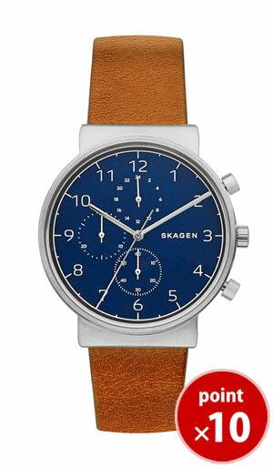 【国内正規品】【ギフト包装無料】スカーゲン SKAGEN メンズ 腕時計 SKW6358 Leather Mens ANCHER クロノグラフ ブラウンレザーベルト 【あす楽対応】【送料無料】