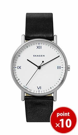 【国内正規品】【ギフト包装無料】【2017冬新着】スカーゲン SKAGEN メンズ Playtype コラボレーション 腕時計 SKW6412 販売店限定 ブラックレザーベルト【送料無料】 腕時計 あす楽対応