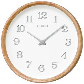 【SEIKO・NUTSコラボレーション】 天然木の掛け時計 28cm nu・ku・mo・ri セイコークロック 掛け時計 壁掛け時計 電波時計 KX239A オーク ぬくもり 【正規品】【送料無料】