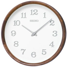 【SEIKO・NUTSコラボレーション】 天然木の掛け時計 nu・ku・mo・ri セイコークロック 掛け時計 壁掛け時計 電波時計 KX239B ウォルナット 【正規品】【送料無料】
