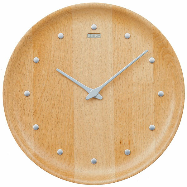 【SEIKO・NUTSコラボレーション】 天然木の無垢の掛け時計【NUTS COLLECTION】 セイコークロック 掛け時計 壁掛け時計 KX622H ビーチ 【正規品】【送料無料】【先着100名様に専用スタンドプレゼント】