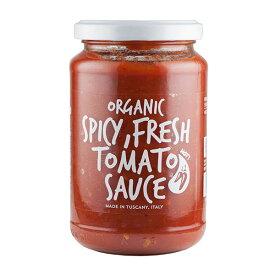 イタリア産 有機トマトソース 唐辛子 小林もりみセレクト オイルフリー フレッシュトマトソース スパイシー パスタソース EUBIO認証 350g 作り置き カーサ・モリミ 正規品 あす楽対応