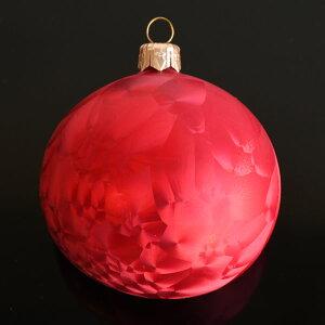 クリスマスツリーオーナメント VITBIS ガラスボール レッド 4個入り ポーランド製 吹きガラス【正規品】あす楽対応 母の日