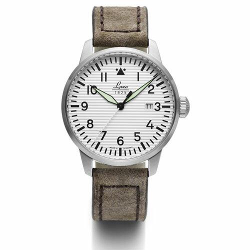 【国内正規品】【ギフト包装無料】ラコ LACO パイロットウォッチ Basel バーゼル 861971 メンズ ドイツ製 腕時計 径42mm トープカラーレザーベルト 【送料無料】