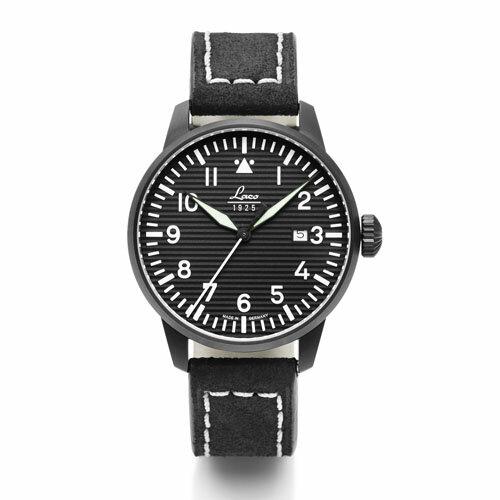 【国内正規品】【ギフト包装無料】ラコ LACO パイロットウォッチ Luzern ルツェルン 861972 メンズ ドイツ製 腕時計 径42mm ブラックレザーベルト 【送料無料】