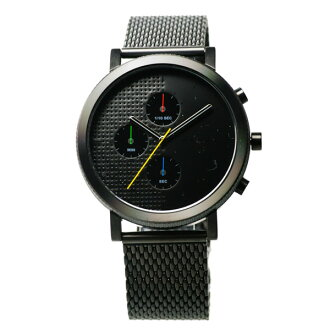 hyugge HYGGE 2204計時儀系列MSM2204BC(BK)黑色情况不銹鋼網絲吊帶|漂亮的名牌禮物禮物生日禮物nuts