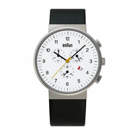 ブラウン BRAUN メンズ 腕時計 BNH0035WHBKG クロノグラフ カレンダー ホワイトフェイス レザーベルト 【あす楽対応】【正規品】【送料無料】|おしゃれ ブランド ギフト プレゼント 誕生日プレゼント nuts