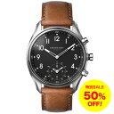 クロナビー KRONABY アペックス APEX 【43mm】 スマートウォッチ 腕時計 メンズ A1000-1907 ブラックダイヤル シルバーケース ブラウ...