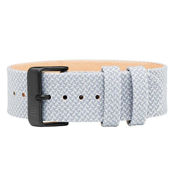 TID watches ティッド TID腕時計用ベルト Twain Wristbands Kvadrat製ファブリック×TRANSJO製ベジタブルタンニングレザー 21mm Mineral ミネラル ライトブルーグレー系 TID-TW-MINERAL 腕時計 ウォッチ 替えベルト 正規品 あす楽対応