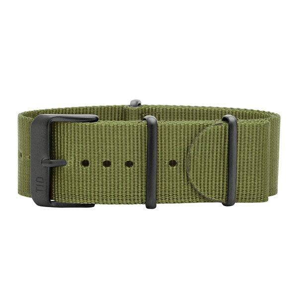 TID watches ティッド TID腕時計用ベルト Nato Wristbands NATOベルト ナイロンベルト 22mm グリーン TID-BELT-NGR-BK 腕時計 ウォッチ 替えベルト ナイロンストラップ 正規品 あす楽対応