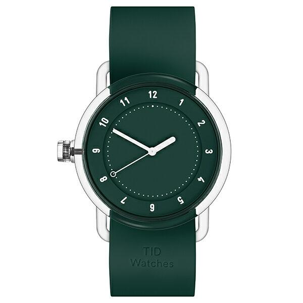 TID watches ティッド No.3 38mm TID03-GR/GR クリアケース × グリーン文字盤 シリコンベルト 【ベルトセットモデル】 カジュアル メンズ レディース 腕時計 ウォッチ 正規品 送料無料
