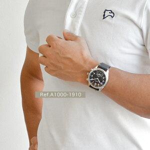 クロナビーKRONABYアペックスAPEX腕時計【43mm】スマートウォッチメンズA1000-1910ブラックダイヤル×シルバーケースブラックレザーベルト 北欧時計紳士用スウェーデンブランド【正規品】【送料無料】【あす楽対応】