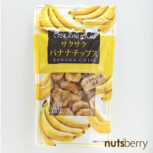くだもの屋さんのサクサクバナナチップス≪100g≫ バナナ ココナッツオイル使用 ココナッツ フィリピン産 おやつ 揚げ ドライバナナ お菓子