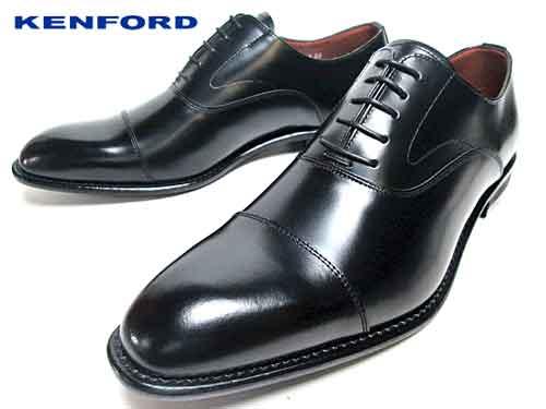 【あす楽】ケンフォード KENFORD ストレートチップ 4E 大きいサイズ ブラック ビジネスシューズ メンズ 靴