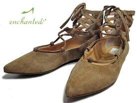 【あす楽】エンチャンテッド enchanted レースアップパンプス キャメルS【あす楽】【レディース・靴】