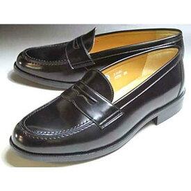 ハルタ HARUTA 合皮ビジネスコインローファー 大きいサイズ ブラック メンズ・靴】