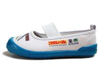 【あす楽】PLARAILプラレールはやぶさ・かがやき新幹線上履き上靴バレーシューズホワイト/サックス【キッズ・靴】