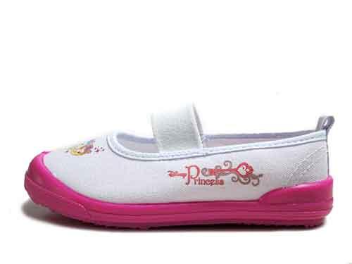 【あす楽】ディズニー プリンセス 上履き 上靴 バレーシューズ ホワイト/ピンク【キッズ・靴】