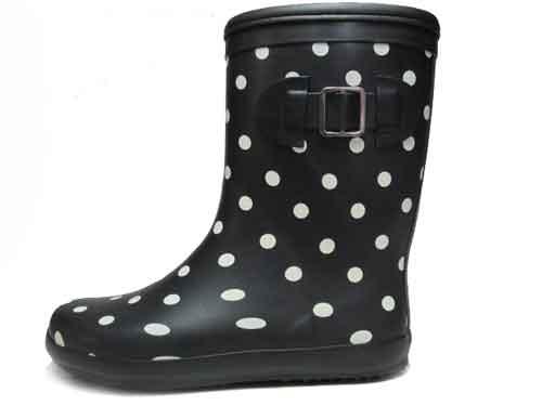 【あす楽】エルマリン ELMARINE レインブーツ ラバーブーツ 長靴 雨靴 ブラック【キッズ・靴】