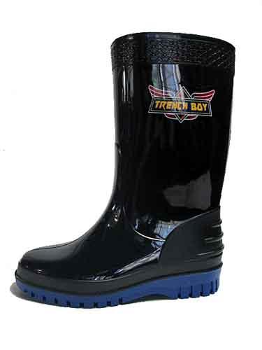【あす楽】トレンチボーイ TRENCH BOY ジュニアレインブーツ 長靴 雨靴 黒【キッズ・靴】