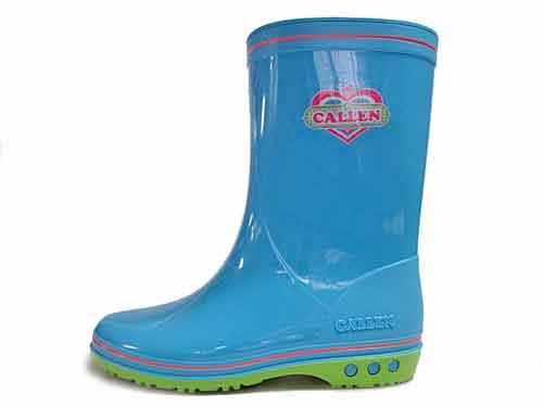 【あす楽】アキレス カレンジュニア CALLEN JUNIOR レインブーツ 長靴 雨靴 サックス【キッズ・靴】