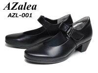 【あす楽】アゼリアAZaleaAZL-001クロスムース3Eベルト付きカジュアルパンプスレディース靴