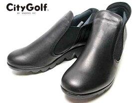 24.0cm【あす楽】シティゴルフ City Golf アンクルブーツ ブラック レディース 靴