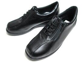 【あす楽】エレガンス Elegance 4609 ファスナー付きカジュアルシューズ 黒 レディース 靴