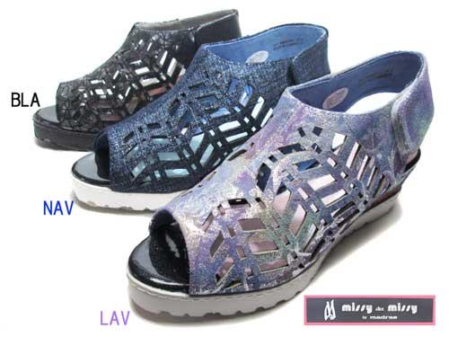 【あす楽】ミッシー・デ・ミッシー missy des missy カジュアルサンダル ウエッジソール レディース 靴