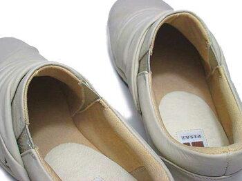 【あす楽】ピサPisaz1379ワイズ3Eスリッポンタイププラットシューズレディース靴