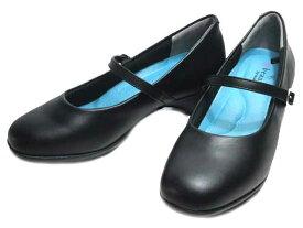 【あす楽】ビュース Beauth BT-602 ワイズ3E 防水ストラップパンプス ブラック レディース 靴