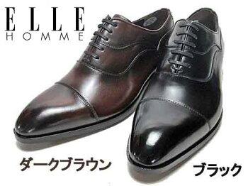 【あす楽】エルオムELLEHOMMEビジネスシューズストレートチップレースアップシューズメンズ靴
