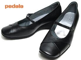 【あす楽】アシックス ペダラ asics Pedala WC082B ワイズ3E ストラップパンプス ブラックブラック レディース 靴