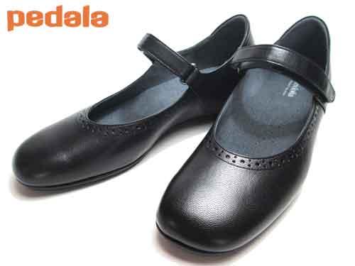 【あす楽】アシックス ペダラ  asics Pedalaウォーキングストラップパンプスブラック【レディース・靴】