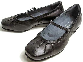 アシックス ペダラ asics Pedala ウォーキング・コンフォート 甲ストラップパンプス レディース ブラック【靴】