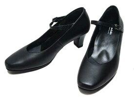 【あす楽】アシックス ペダラ asics Pedala WP762T ワイズ2E ストラップパンプス ブラック レディース 靴