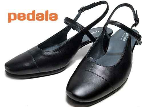 【あす楽】アシックス ペダラ  asics Pedalaバックバンドウォーキングパンプスブラック【レディース・靴】