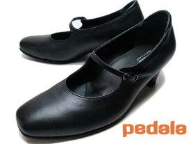【あす楽】アシックス ペダラ asics Pedala ストラップパンプス コンフォートシューズ ワイズ3E ブラック レディース 靴